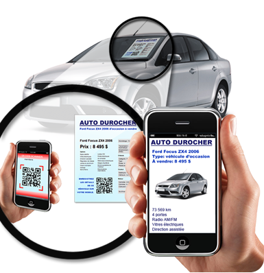 QR Code tool for car rental